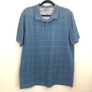 VAN HEUSEN | blue shirt sleeve polo